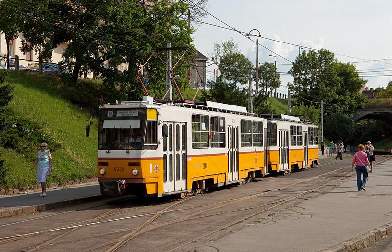 Budapest - Tatra T5C5 4038 on line 18 at Moszkva Ter.
