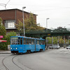 Tatra KT4YU 333 on line 3 passes the Museum of Technology.