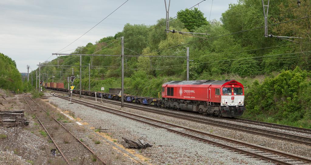 Crossrail DE 6308 on the 40162 (Segrate/I - Zeebrugge-Ramskapelle) in Vise-Haut.