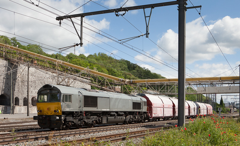 Railtraxx 1266 035 D-DISPO on the 61440 (Kinkempois 10:22 - Hermalle 10:44) in Hermalle s/Huy.