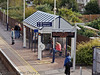 29 Oct 2011 Cosham Station, views from the footbridge.<br /> The waiting shelter on platform 1