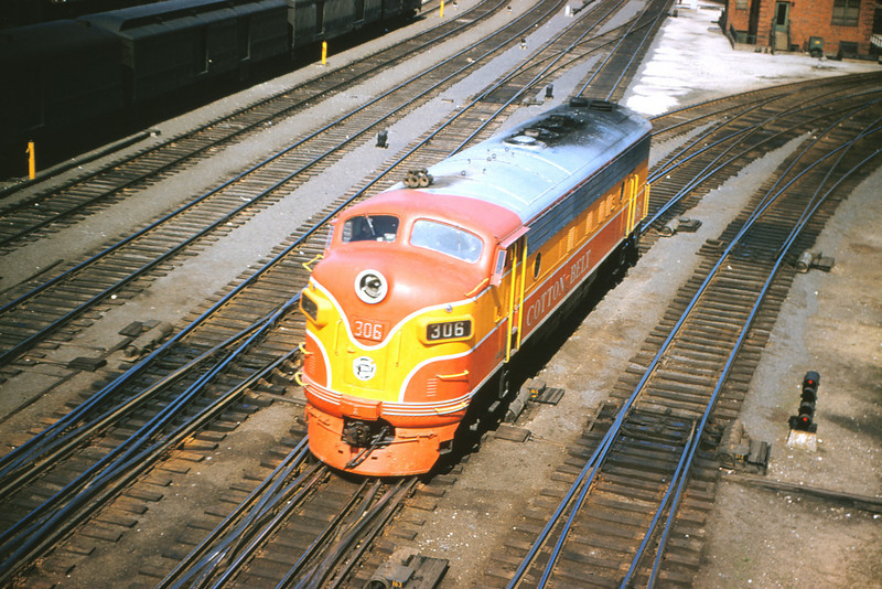 CBR 58 - May 19 1956 - Cotton Belt ng  306 at St Louis Union Station Yard