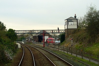 Back to Ravenglass, and the station is seen here from the southern approach.