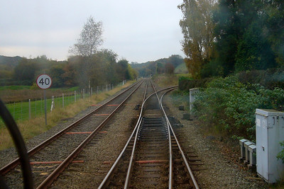 Park South Junction - the Dalton loop off to the left with the single line to Barrow heading away to the right.
