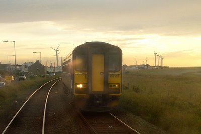 153358 heads north between Flimby and Maryport.