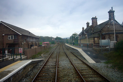 Ravenglass for Eskdale station, as seen from the cab of 153304.