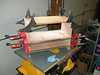 Gluing the cabinet together using Gorilla glue, it's great, and my Besser clamps, thay ar5e also great