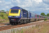"""FGW HST power car 43088 has charge of """"The Royal Duchy"""" as it storms past me at Padworth on the B&H heading for Penzance 08 August."""
