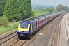 FGW Hst 43086 at close to 125mph is seen on the up fast powering through Lower Basildon on the GWML, next stop Reading 18 April 2011.