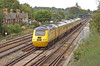 Network rail HST 43062+013 NMT accelerates through Worting junction bound for Bournemouth 16 September 2010.