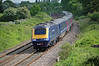 FGW 43020 is seen on the B&H approaching Frouds lane Aldermaston on a service to the West country 19 May 2008.