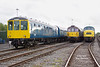 Birmingham RCW Class 104 50455 keeps 33109 and Peak 45108 company - Bury - Monday 1st October 2018.