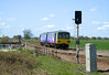 144012 passes Maud's Bridge at 13:25 on Wednesday 12th April 2010, with a service to Scunthorpe.