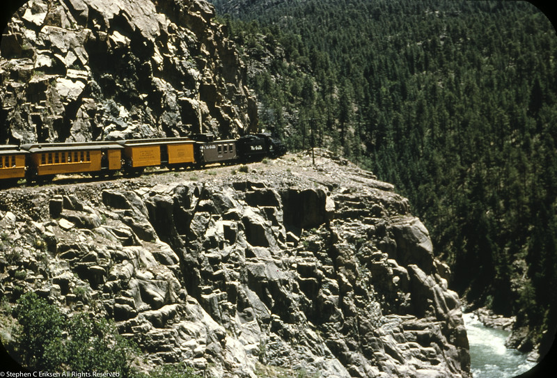 1950's iconic view of the highline on the Silverton.