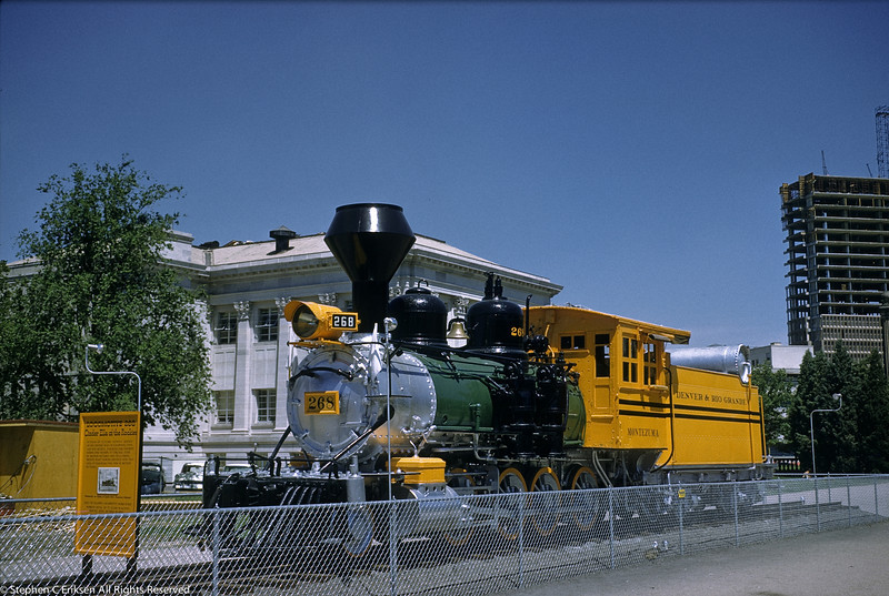 """A view of the """"Cinder Ella of the Rockies"""" on display in Denver in the late 1950's."""