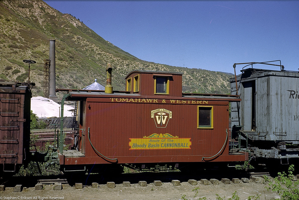 This June of 1950 shot taken in Durango still shows the Ticket to Tomahawk (filmed on October of 1949) paint scheme applied.