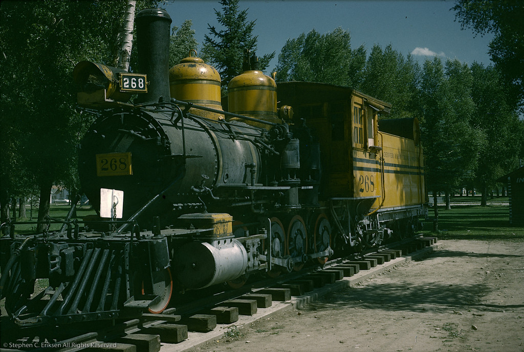 C-16 #268 rests in a Gunnison park in this view from September 15th, 1955