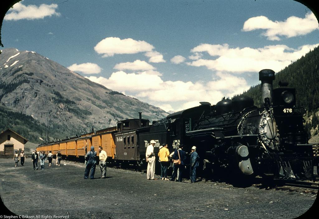 1950's view of the Silverton train.