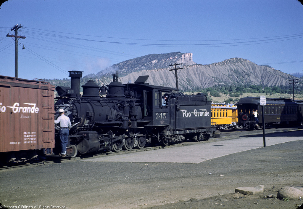 C-19 #345 switches in Durango in this view on July 16, 1950.