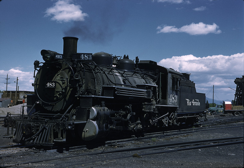 K-36 #483 rests just beyond the coaling structure in this shot taken on August 25th, 1958.