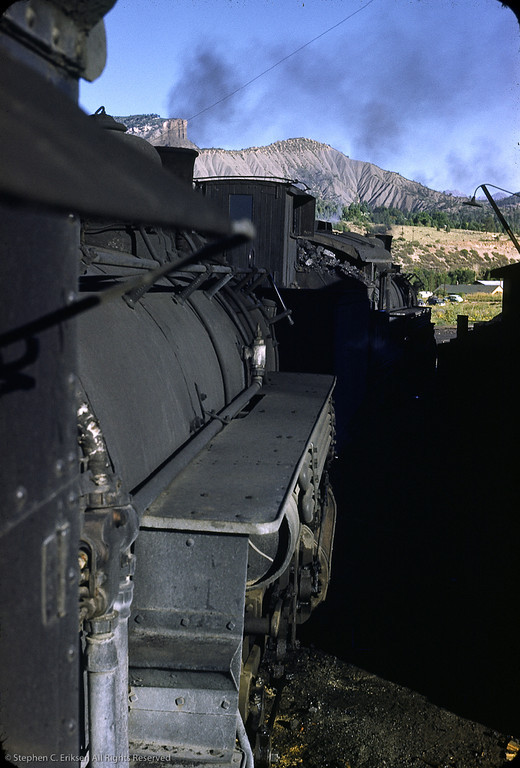 This 1957 shot shows K-37 #496 and K-36 #482 in the Durango yards