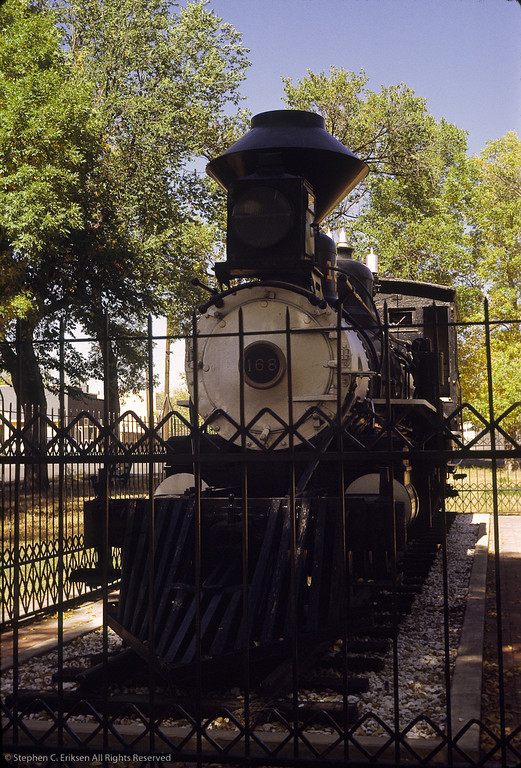 T-12 #168 reposes in a park in Colorado Springs in this view from 1967