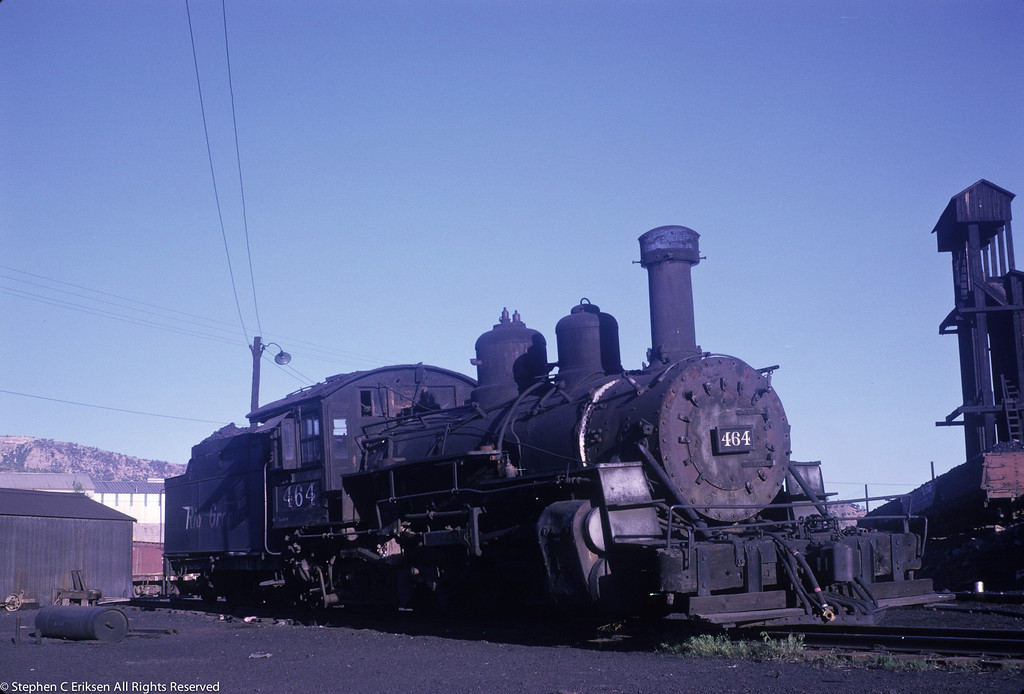K-27 #464 sits forlornly in Durango on June 4 of 1962.  Who knew this would be under regular steam over 50 years later?!