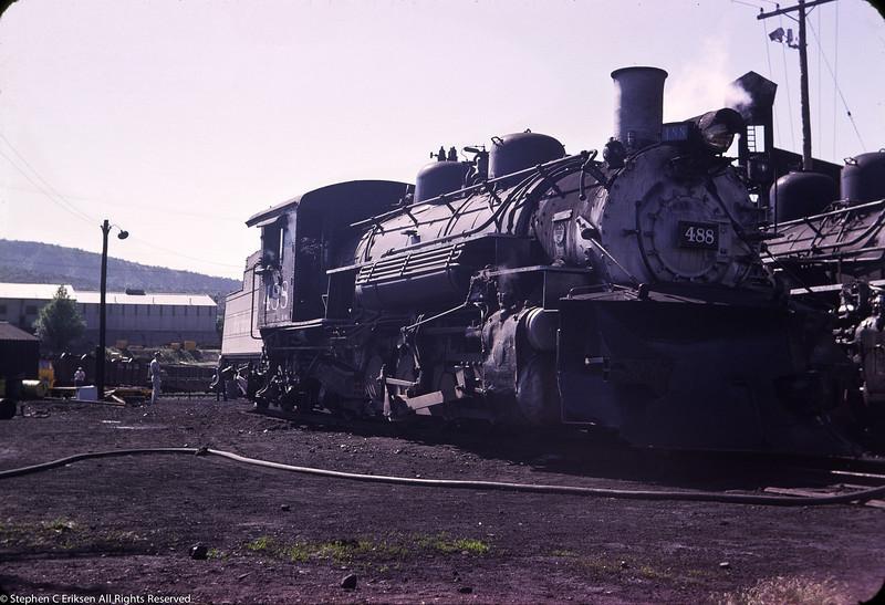 Closeup of #488 in Durango in June of 1963.