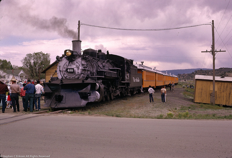 #488 in Chama in May 1963.