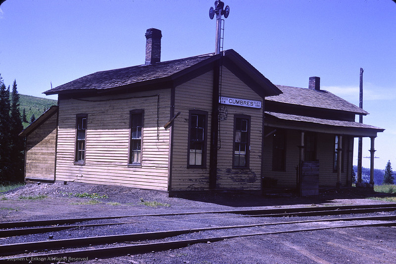 """The Cumbres """"station"""" looks a bit worse for the wear in this view from August 1964.  Photo by Richard Cerne."""