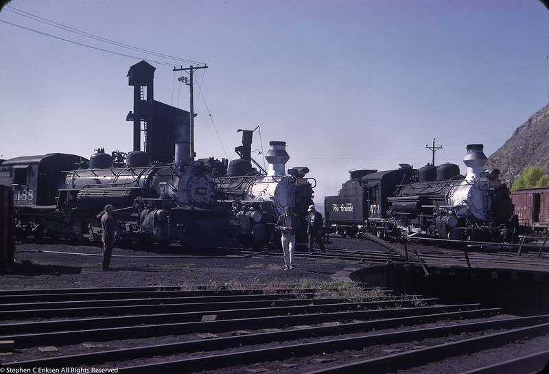 June of 1963 adjacent to the Durango turntable are K-28's 473 and 478 next to K-36 #488.