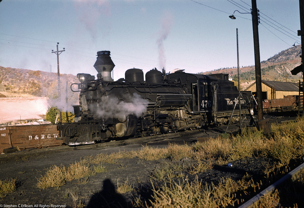 Late afternoon shadows on #476 in Durango in October of 1961.