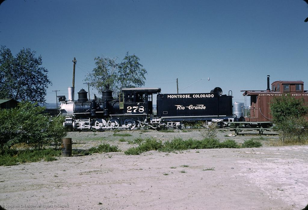 C-16 #278 rests in Montrose Colorado in September of 1961.