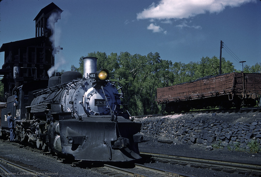 K-36 #483 looks ready to depart in this Chama scene from June 4th of 1962.