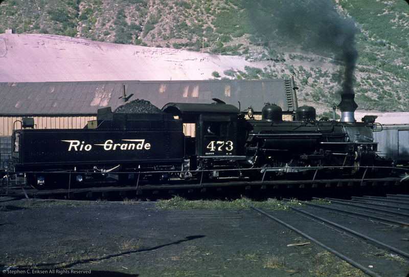 Its June of 1964 and K-28 #473 takes a spin on the Durango turntable.