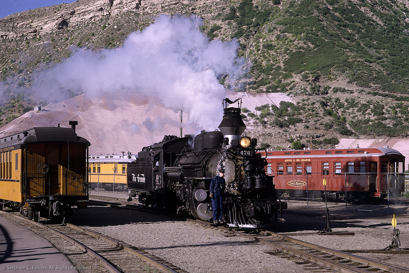 Check out the crazy spark arrestor on #476 in this view from July of 1966.