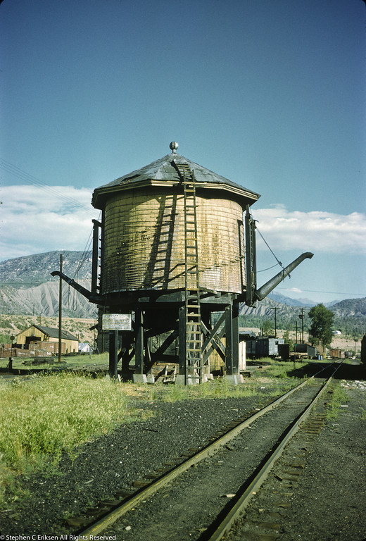 On July 31st, 1962 one could still find the Durango water tower standing at the ready with its two spouts (one of which was added for a movie).