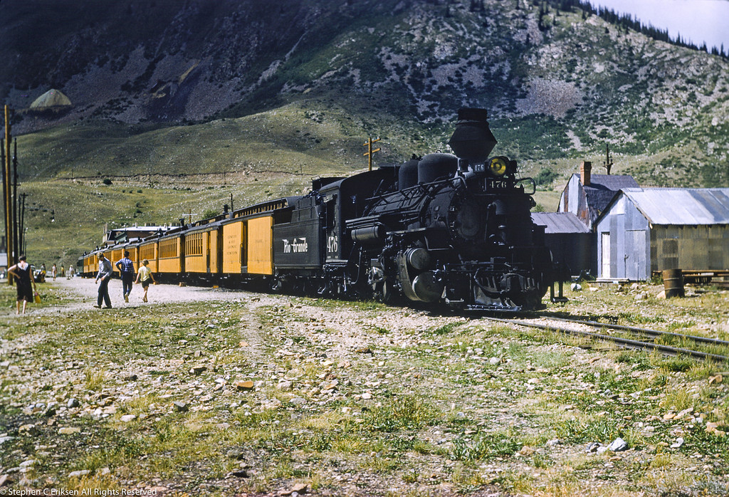 Beautiful Silverton scene in September of 1960.
