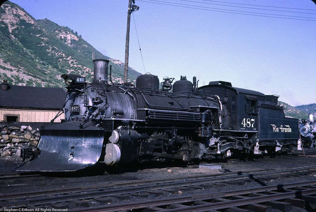 K-36 #487 sports its often worn plow in June of 1966 in Durango, Colorado.
