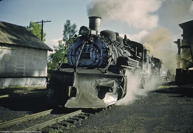 In happier days, #483 is under steam in Chama in August of 1962.