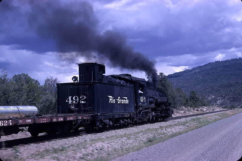 Check out this action shot as K-37 #492 is on the move. Photo taken in August of 1964 by Richard Cerne.