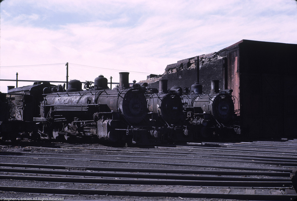 The remainder of the Alamosa roundhouse is still standing in this September 1966 view.