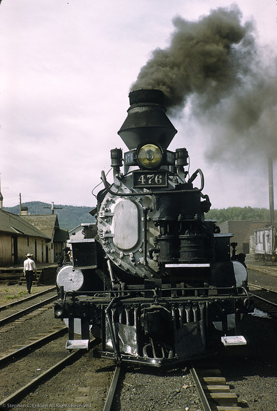 476 rests near the Chama station in this view from June of 1961.