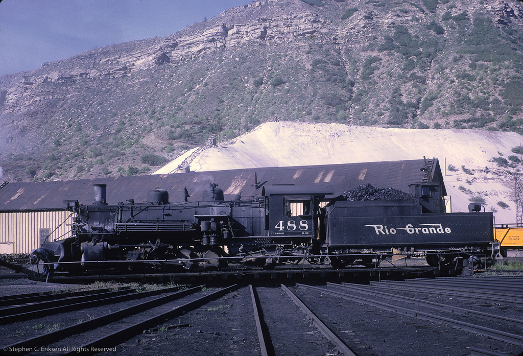 K-36 #488 takes a spin on the Durango turntable in this shot from June of 1962.