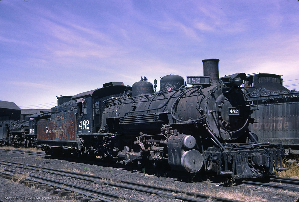 A rather sad looking K-36 #482 rests in Alamosa on June 14, 1966