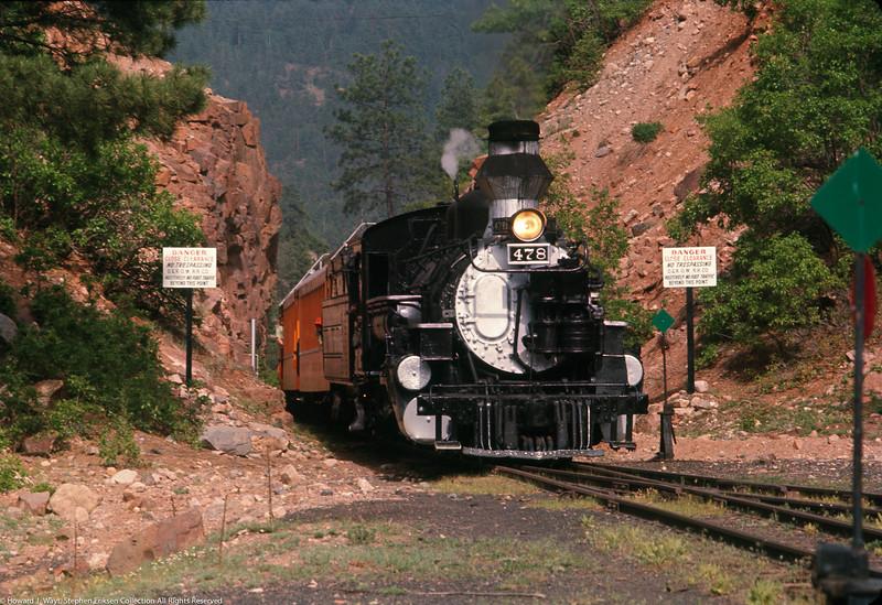 June 2nd, 1969, Howard J. Wayt captured #478 headed toward Rockwood after passing through the highline.