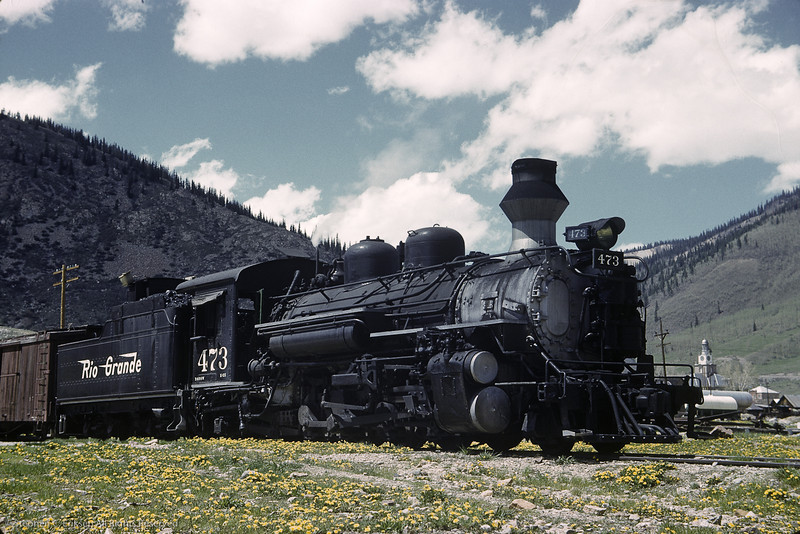 Its June 6th of 1962 and K-28 #473 rests in a field of wildflowers in Silverton.