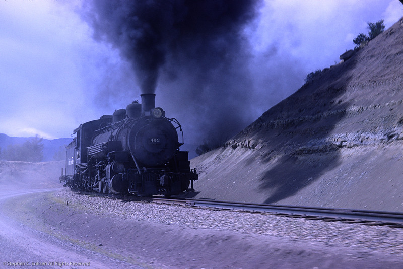 Pacing #492 from the car in this view from August of 1964.  Richard Cerne photo.