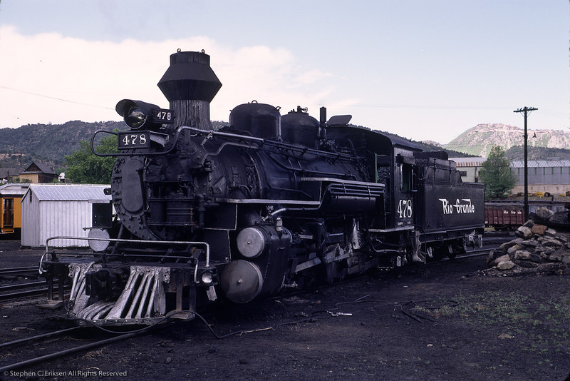 Check out the silver painted pilot in this view of K-28 #478 taken in Durango in June of 1967.