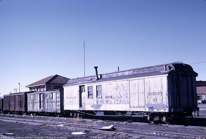 May, 1967 MOW Engine Men X54 at Alamosa, CO